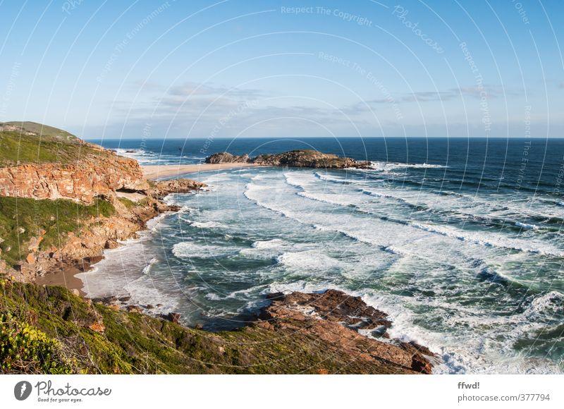 Robberg Ferien & Urlaub & Reisen Ferne Freiheit Sommer Meer Wellen wandern Küste Natur Landschaft Wasser Felsen Bucht Südafrika entdecken Erholung natürlich