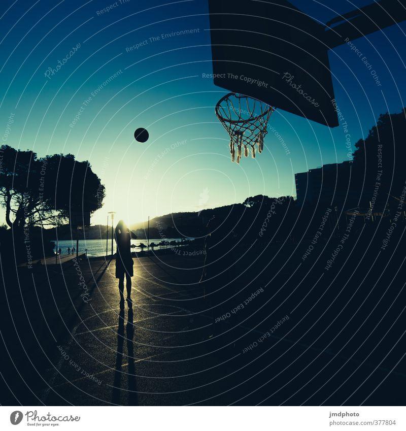 Basketball Lifestyle Freizeit & Hobby Ferien & Urlaub & Reisen Sommer Sommerurlaub Sonne Meer Sport Fitness Sport-Training Ballsport Sportler Korb
