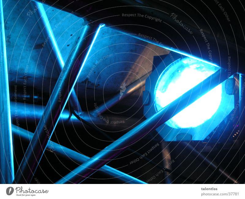 spot Licht Bühnenbeleuchtung Lampe Medien blau Scheinwerfer