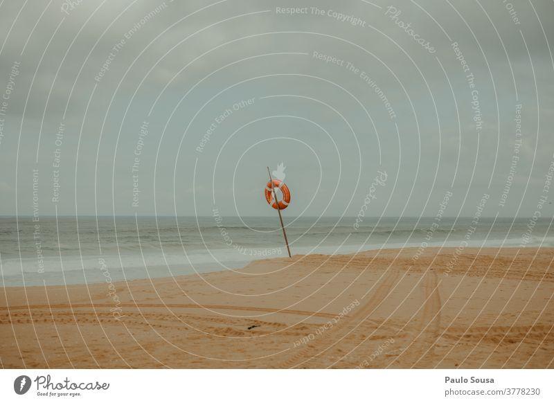 Verlassener Strand im Herbst Sand Sandstrand fallen Winter Farbfoto Menschenleer Landschaft Stranddüne Küste Natur Ferien & Urlaub & Reisen Meer Außenaufnahme
