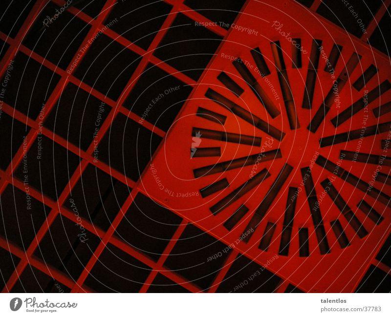 structure Muster rot kariert Quadrat Architektur Decke Strukturen & Formen