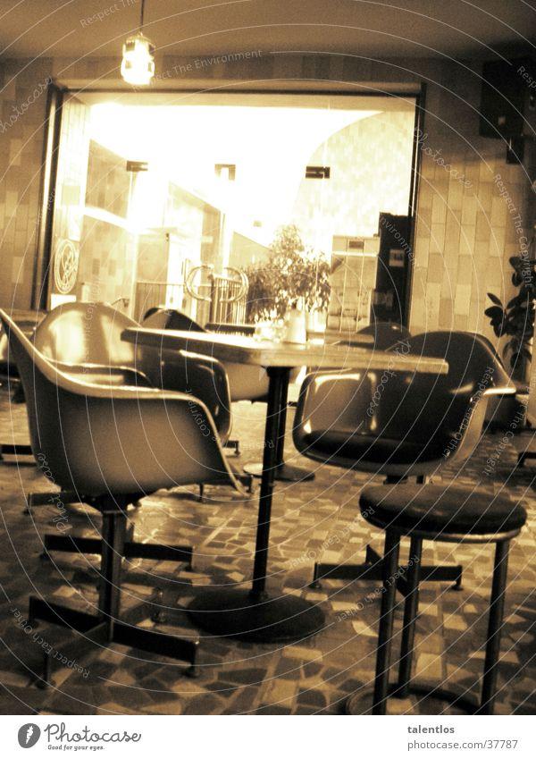 café del retro Ernährung Stuhl Café Gastronomie Sepia old-school