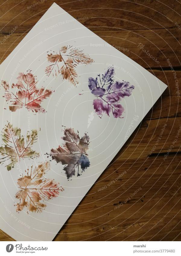 Herbstblätter - mal anders blatt herbst herbstblatt ahorn malen wasserfarben kunst papier hobby freizeit herbstlich Dekoration & Verzierung dekorativ bunt