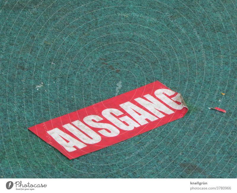 Ausgang Coronavirus Aufkleber Außenaufnahme Schilder & Markierungen Zeichen Sicherheit Warnschild Hinweisschild Wege & Pfade Teppich Großbuchstabe