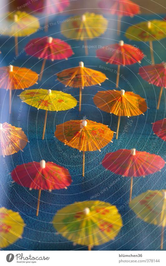 Wir wollen Sonne !!! Sonnenschirm Schirm Papierschirmchen stehen dünn klein mehrfarbig gelb orange rot Dekoration & Verzierung Cocktail Eisbecher verziert