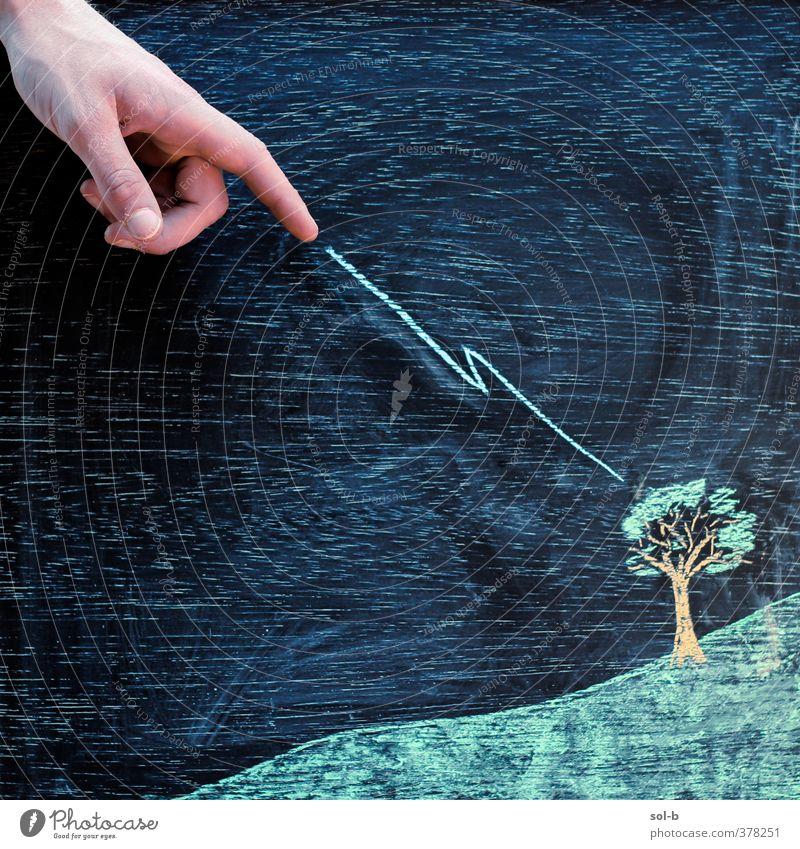 Mensch Natur Hand Baum schwarz Umwelt lustig Kunst Wetter Angst gefährlich Macht Kreativität einzigartig Todesangst Wut