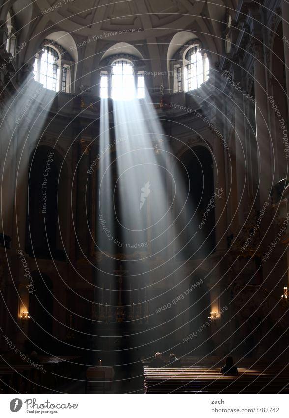 Erleuchtung Kirche Religion & Glaube Religion u. Glaube Christentum Gebet Hoffnung Spiritualität beten Licht Gottesdienst glauben katholisch evangelisch Messe