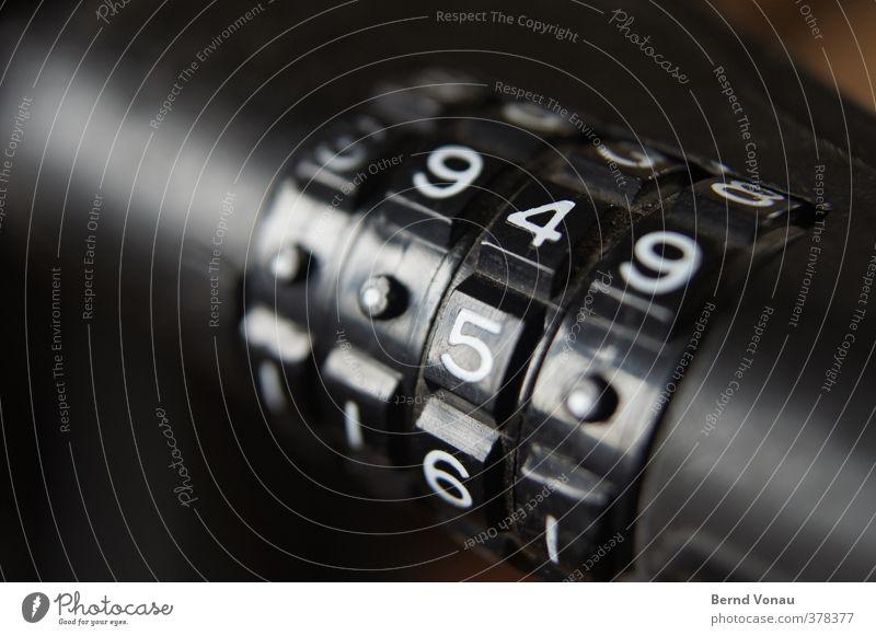 ..5. Fahrradfahren Kunststoff Ziffern & Zahlen schwarz weiß matt glänzend Reflexion & Spiegelung fahrradschloss Absicherung Diebstahlsicher kombination