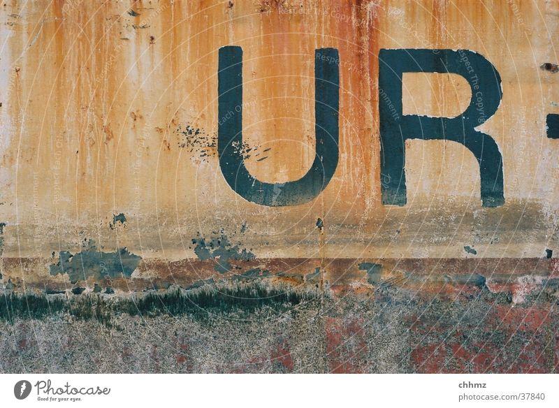 ... LAUB Farbe Wasserfahrzeug Rost Schifffahrt Rust Patina Bordwand Auerochse