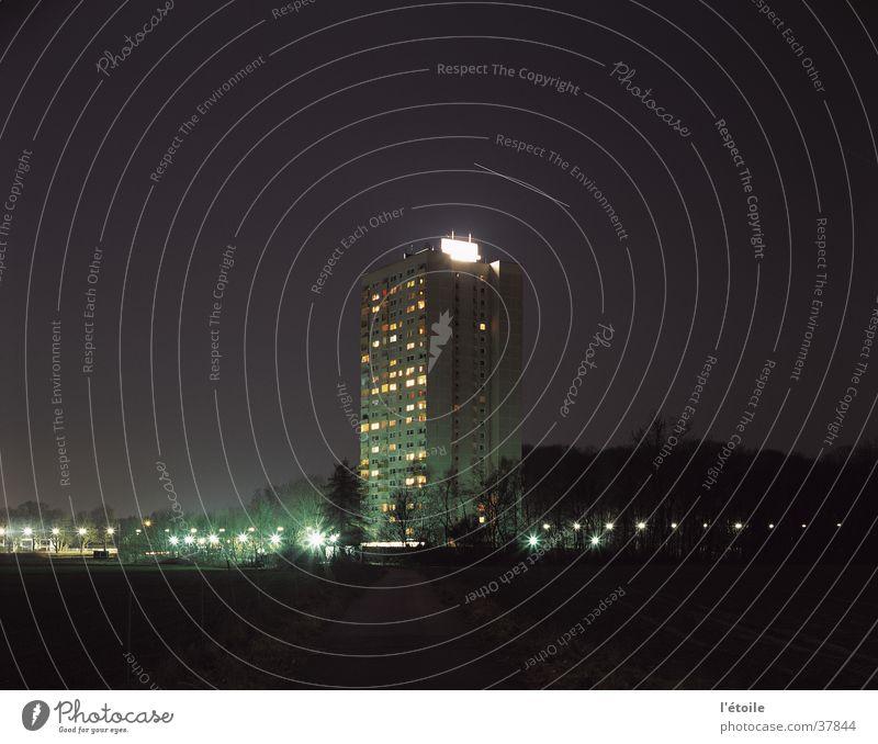 wohnhochhaus Haus Architektur Hochhaus Nachthimmel