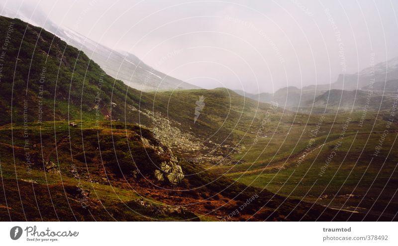 Mittelerde Natur Pflanze Landschaft ruhig Ferne Umwelt Berge u. Gebirge Freiheit Stimmung Wetter Idylle Erde Nebel wandern Schönes Wetter Abenteuer