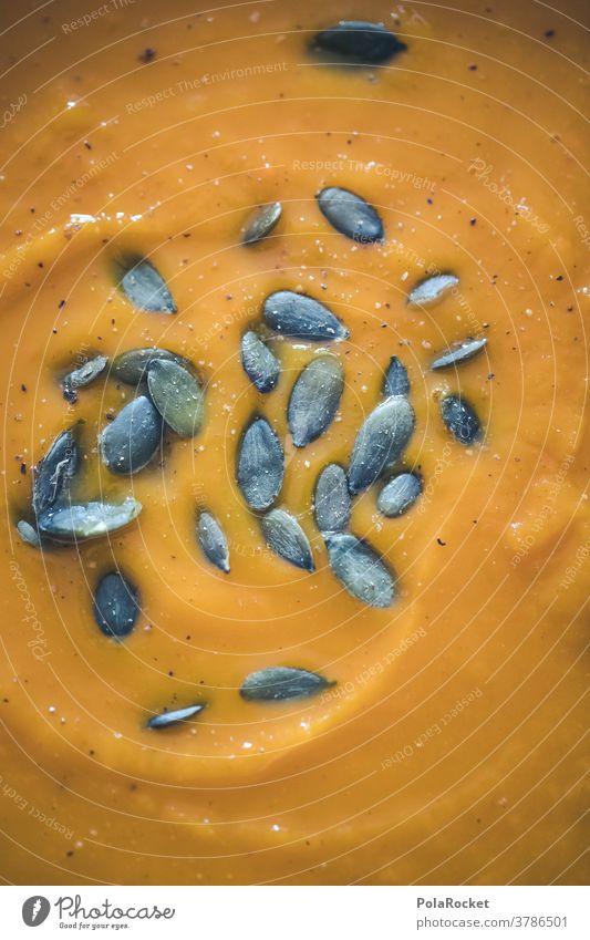 #A# Herbst und Kürbis-Suppe orange Gesunde Ernährung Bioprodukte Lebensmittel Gemüse Farbfoto Mittagessen Essen Herbstgefühle Herbstbeginn herbstlich
