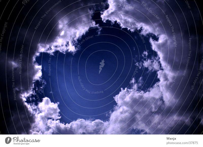 Clouds Wolken Loch