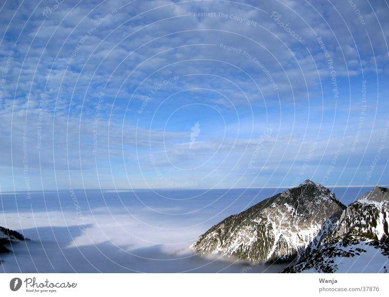 Wolkenmeer Berge u. Gebirge Horizont Wolkendecke