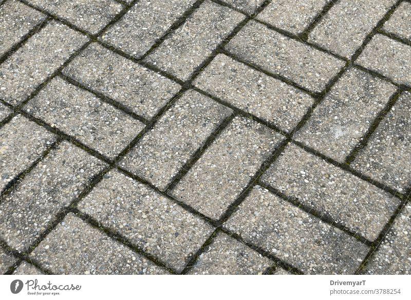 Rechteckiges Bodenmuster (diagonale Ansicht von oben) Rechtecke Stock Muster Asphalt Stein grau Geometrie geometrisch Hintergrund Außenseite kratzig Grunge