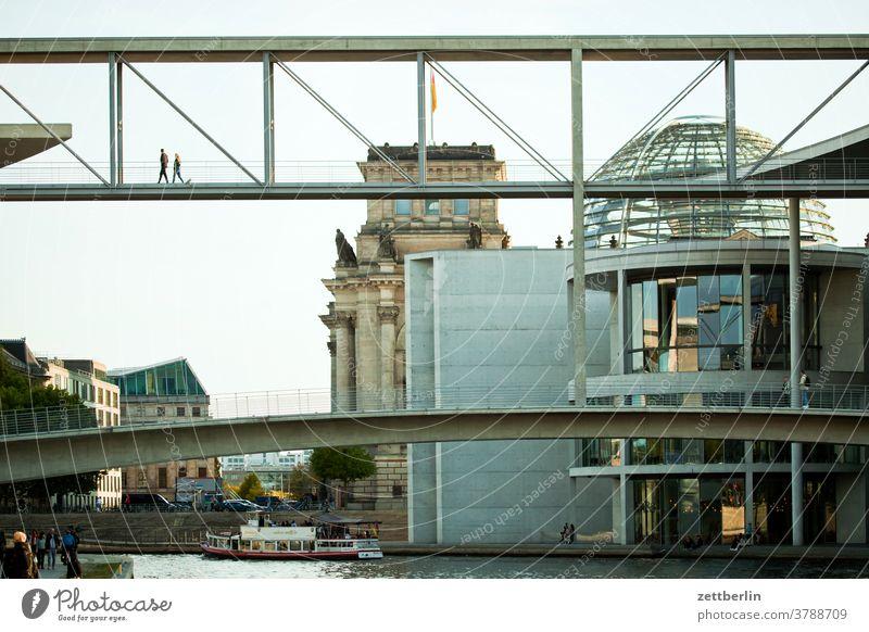 Regierungsviertel Berlin abend architektur berlin büro city deutschland hauptstadt haus himmel hochhaus innenstadt mitte modern neubau reise skyline städtereise