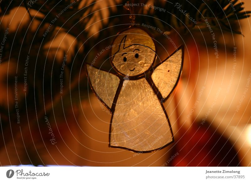 Engelchen Weihnachten & Advent orange Engel Dinge durchsichtig Stillleben Weihnachtsdekoration