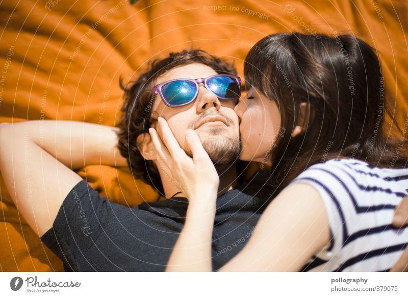 für immer und ewig Mensch maskulin feminin Frau Erwachsene Mann Paar Partner Leben 2 18-30 Jahre Jugendliche Sommer Glück Fröhlichkeit Zufriedenheit