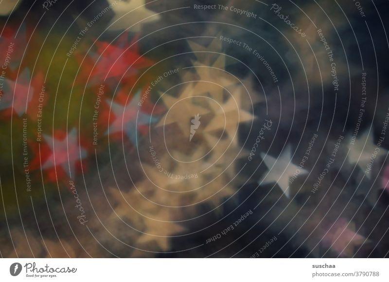 sternenbokeh Sterne Lichter Bokeh leuchtend abstrakt weihnachtlich Unschärfe Hintergrund Dekoration & Verzierung Weihnachten & Advent gold bunt farbig
