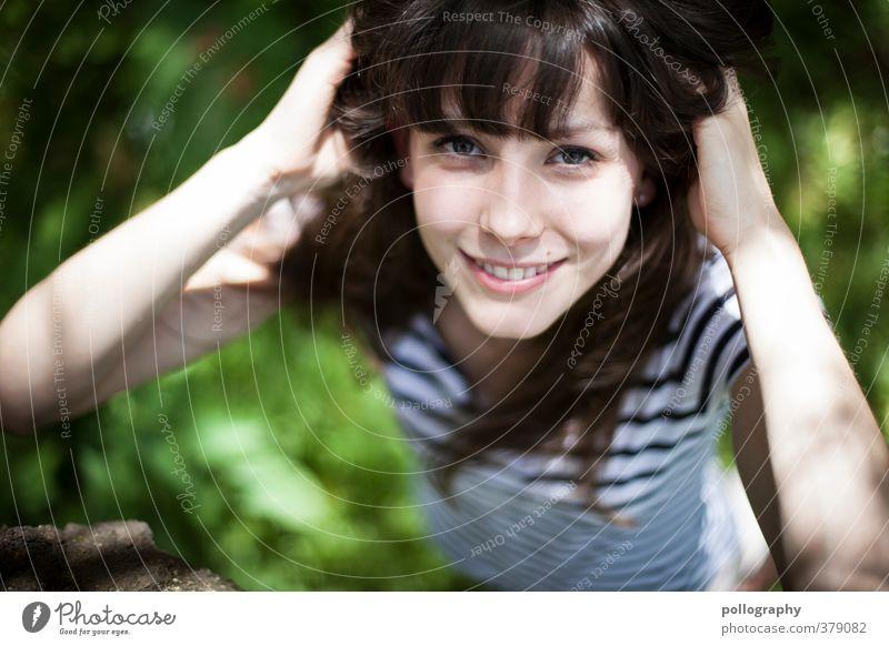 fühl die sommerbrise Mensch feminin Junge Frau Jugendliche Erwachsene Leben Körper Kopf 1 18-30 Jahre Natur Pflanze Luft Sommer Schönes Wetter Wind Gras