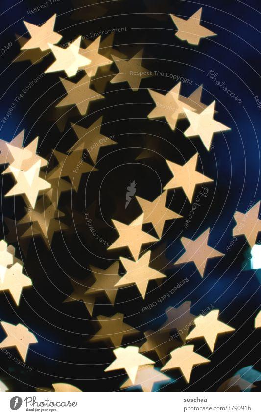 sternenbokeh Sterne Lichter Bokeh leuchtend abstrakt weihnachtlich Unschärfe Hintergrund Dekoration & Verzierung Weihnachten & Advent gold