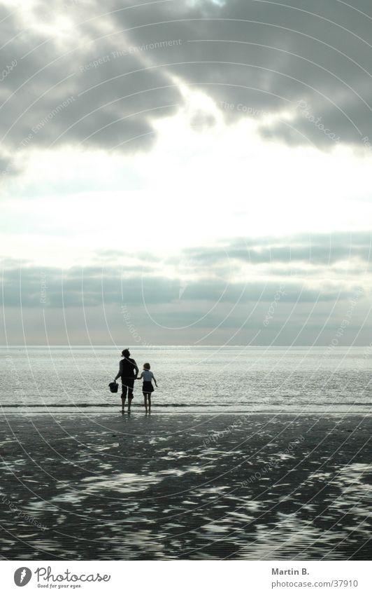 Strandläufer Ferien & Urlaub & Reisen Licht Sonnenuntergang Wolken Meer Romantik Nordsee St. Peter-Ording