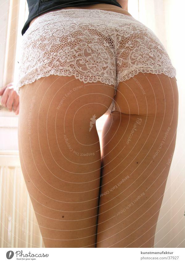 Perfekter Po Frau Erotik feminin Sex Mensch Hinterteil dünn Unterhose Tier Bekleidung Unterwäsche