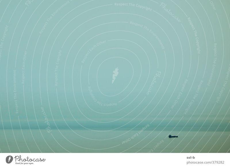 Ausgewaschen harmonisch ruhig Meditation Angeln Ferien & Urlaub & Reisen Ferne Freiheit Meer Natur Luft Wasser Himmel Horizont Küste Schifffahrt Bootsfahrt