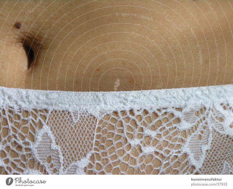 Feine Haut und feine Spitze Frau weiß Unterhose Unterwäsche