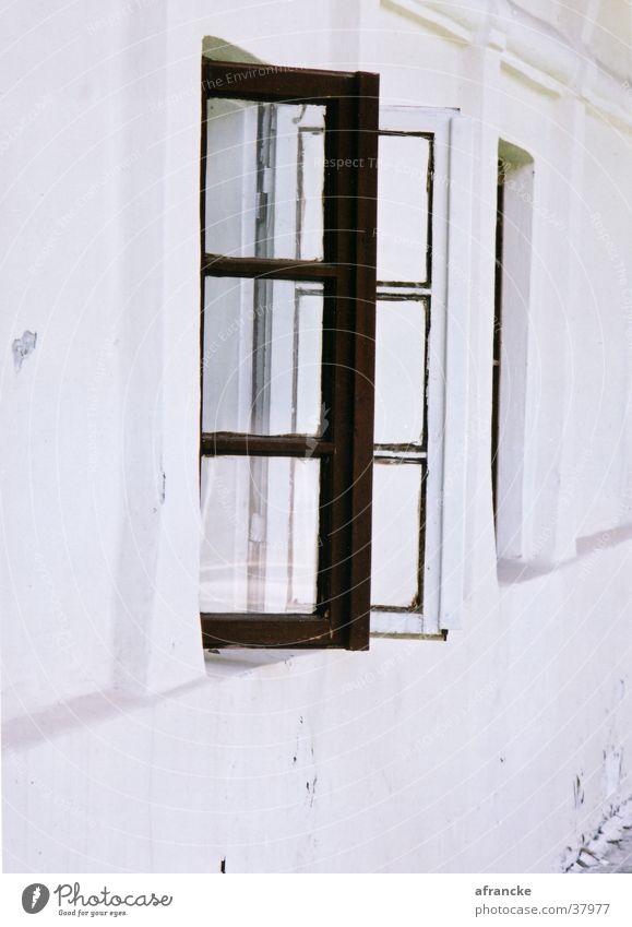 Ausblick weiß Haus Wand Fenster Graffiti Architektur Rumänien