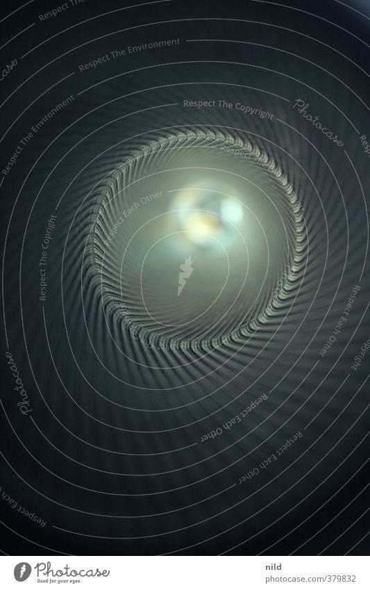 tunnelblick Metall Kunststoff Design Mittelpunkt Neugier Optimismus Präzision Symmetrie Unendlichkeit tief Spirale Furche Kreis rund Rohrleitung Farbfoto