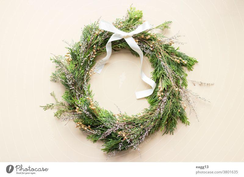 Adventskranz für die Weihnachtszeit Weihnachten abstrakt Hintergrund Feier Farben Konzept Kreativität Dezember dekorierend Dekoration & Verzierung dekorativ