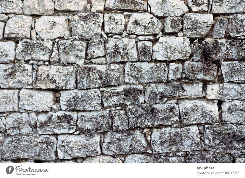 abstrakte Textur einer alten Steinmauer Muster Struktur Architektur dreckig verwittert Oberfläche braun erbaut Konstruktion Klotz texturiert Hintergrund