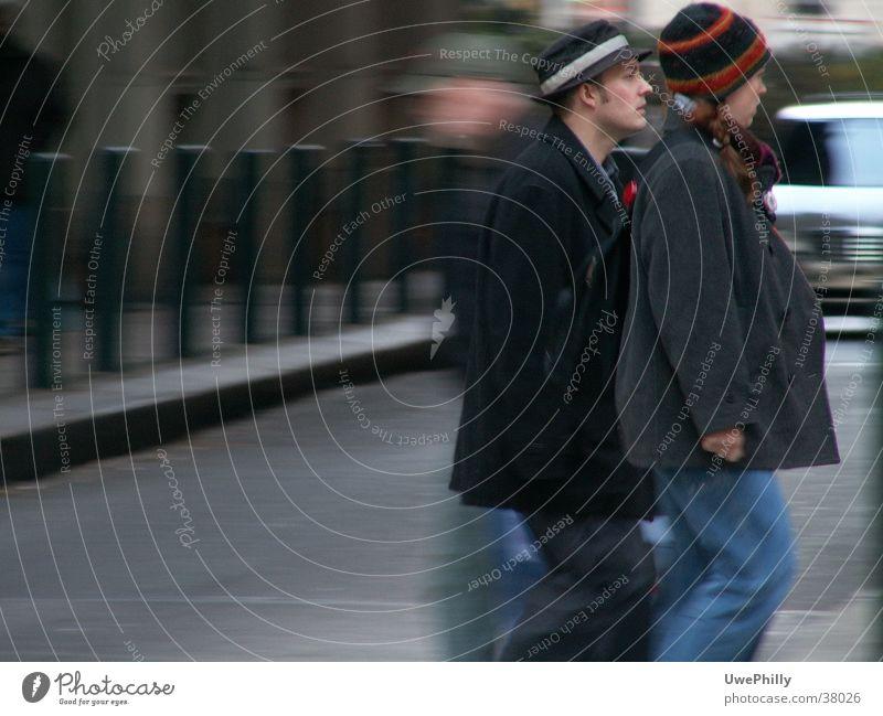 freeze frame Mensch Straße Bewegung Menschengruppe grau