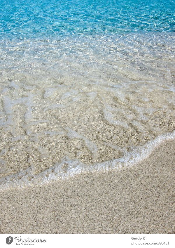 Strand Hintergrund Landschaft Erde Sand Wasser Schönes Wetter Wellen Küste Meer Lebensfreude Leidenschaft friedlich Gelassenheit ruhig Reinlichkeit Sauberkeit