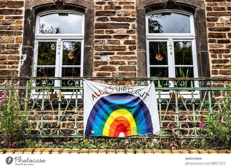 corona thoughts | hoffnung! Hoffnung zuversicht Sicherheit Zukunft Optimismus optimistisch positiv Motivation Farbfoto Menschenleer Außenaufnahme Haus Wand