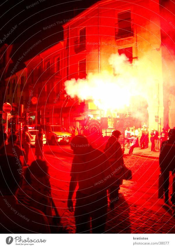 Fiesta del fuego en Avila Straße Feste & Feiern Brand Europa Spanien Schulausflug Ávila