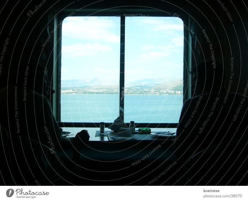 Der Blick Aus Der Fähre Europa Griechenland Fähre Speisesaal Schulausflug