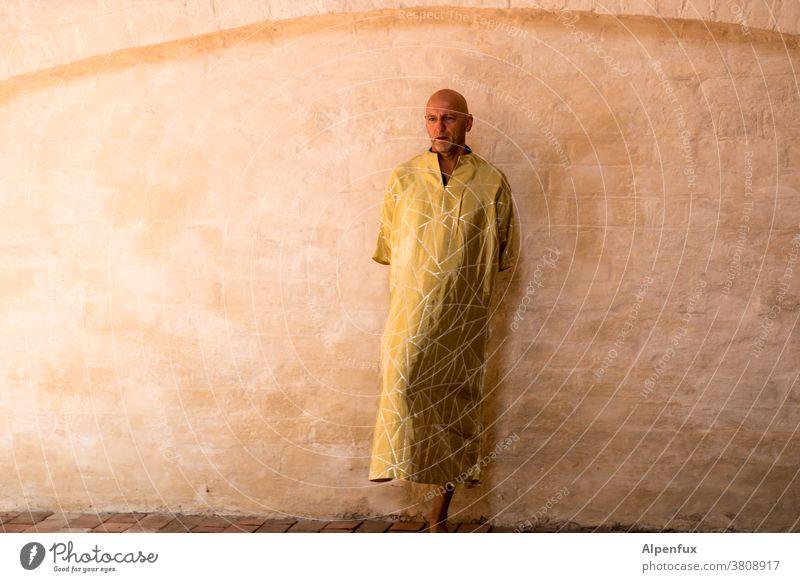unter den Talaren........ Buddha Statue Farbfoto Tempel kultig gold Geistlicher Yoga Glaube Religion & Glaube Mönch Frieden Weisheit ruhig Meditation Erkenntnis