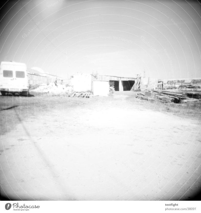 holga lo-fi weiß schwarz Landschaft Verkehr Amerika Portugal Wohnwagen Landweg