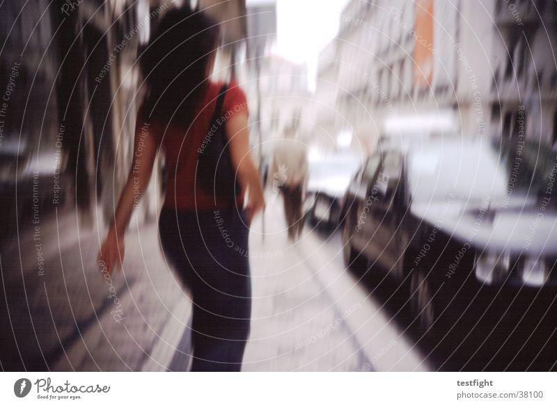 kein titel Mensch Stadt Straße Bewegung Geschwindigkeit Müdigkeit Bürgersteig Portugal Lissabon Fototechnik