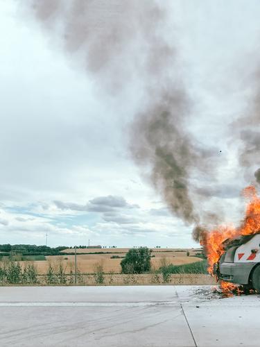 #A# On Se German Autobahn Ser Sometimes Happens A Fire Autobahnkreuz Verkehrsunfall Unfall Unfallgefahr Unfalltod Unfallhilfe unfallopfer Unfallschutz