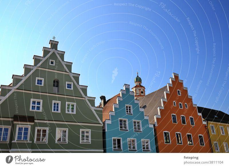 Skyline ist eine Sehenswürdigkeit von Schrobenhausen Europa Deutschland Süddeutschland Bayern Oberbayern fotografieren Ausflug Ausflugsziel reisen Tourismus