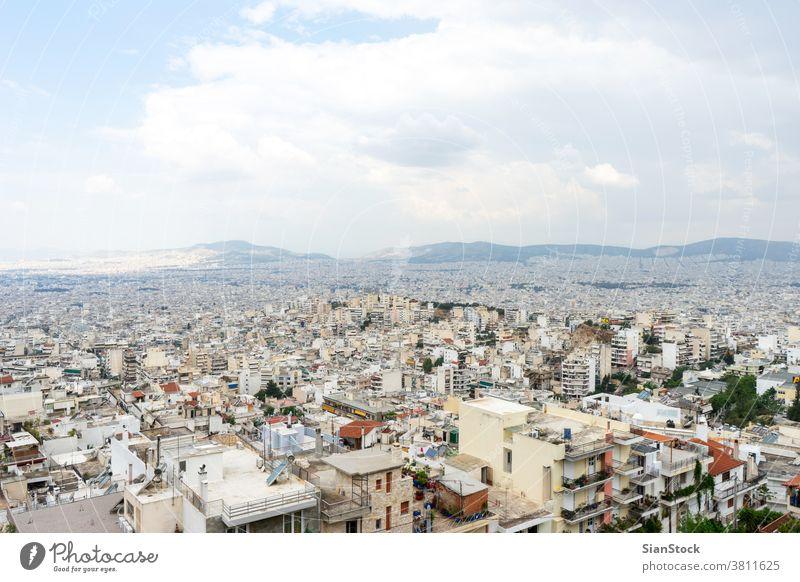 Panoramablick auf Athen, Griechenland Großstadt urban reisen Architektur Europa Ansicht Landschaft Gebäude panoramisch Tourismus Kultur Historie Stadt Kapital