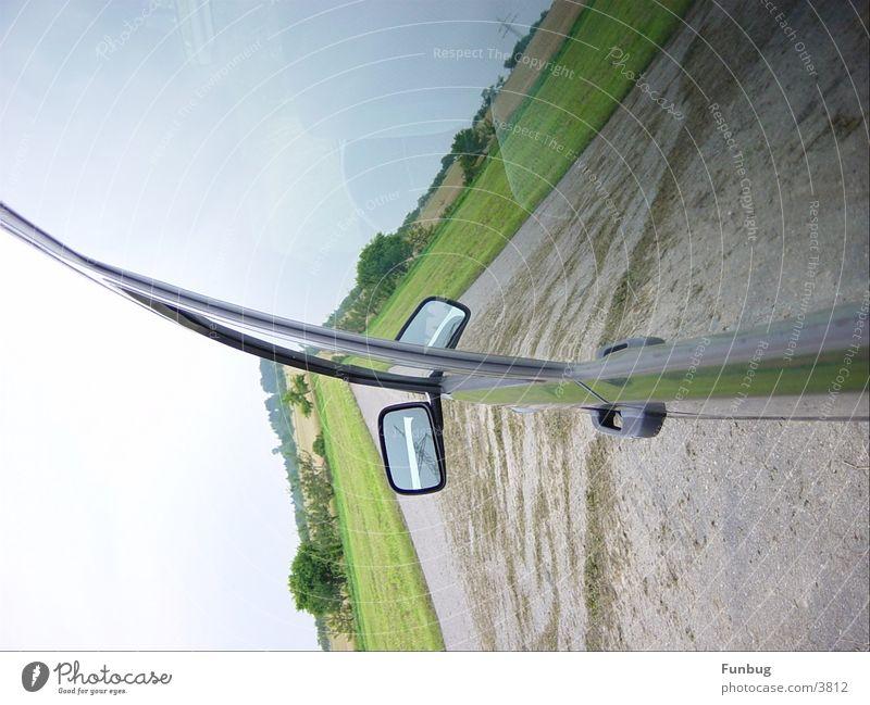 split-screen PKW Autofenster Spiegel Autofahren Bildausschnitt Anschnitt Rückspiegel