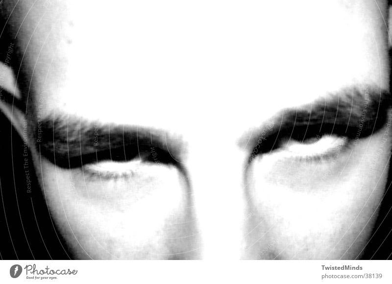 Downset Mann Gesicht Auge träumen