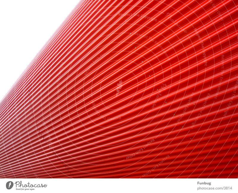 red tube #2 CeBIT rot UFO Wellen Kunst Fluchtpunkt Architektur Industrie E-Mail Lamelle London Underground escape wave Metall modern space