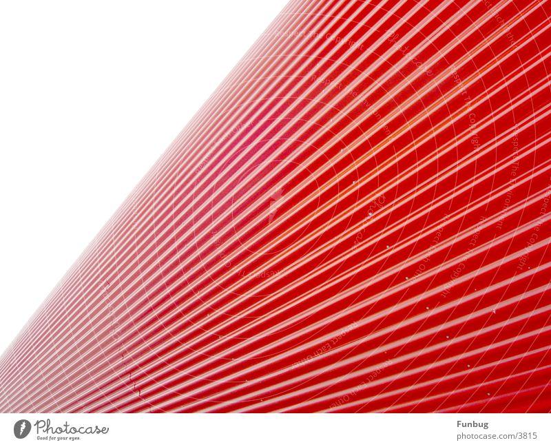 red tube #1 rot Metall Wellen Kunst Architektur Ausstellung Industrie modern E-Mail Flucht London Underground UFO Lamelle Technik & Technologie Messe