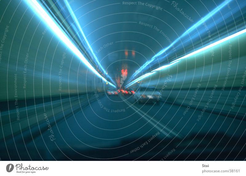 Tunnel Ride Straße Verkehr Geschwindigkeit Tunnel Nacht
