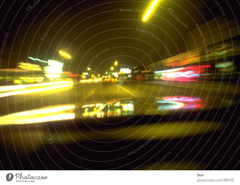 Night Ride Geschwindigkeit Nacht Stadt Los Angeles Bewegungsunschärfe Langzeitbelichtung Verkehr Straße USA Lichtsreifen
